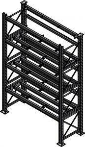 Ross Technology Dexco Heavy Duty Structural I-Beam Die Rack with Bolted Rear Stop Beam