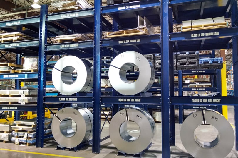 Ross Technology Dexco Heavy Duty Structural Coil Racking Sub Zero
