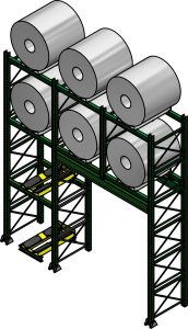 Ross Technology Dexco Heavy Duty Structural Cradle Coil Rack