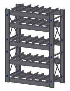 Ross Technology Dexco Heavy Duty Structural I-Beam Die Rack with Fork Entry Bars