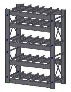 Die Rack with Fork Entry Bars