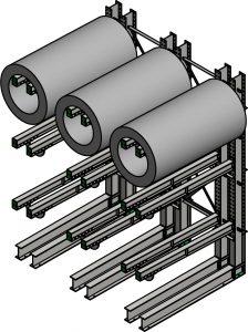 Dual Arm Coil Rack