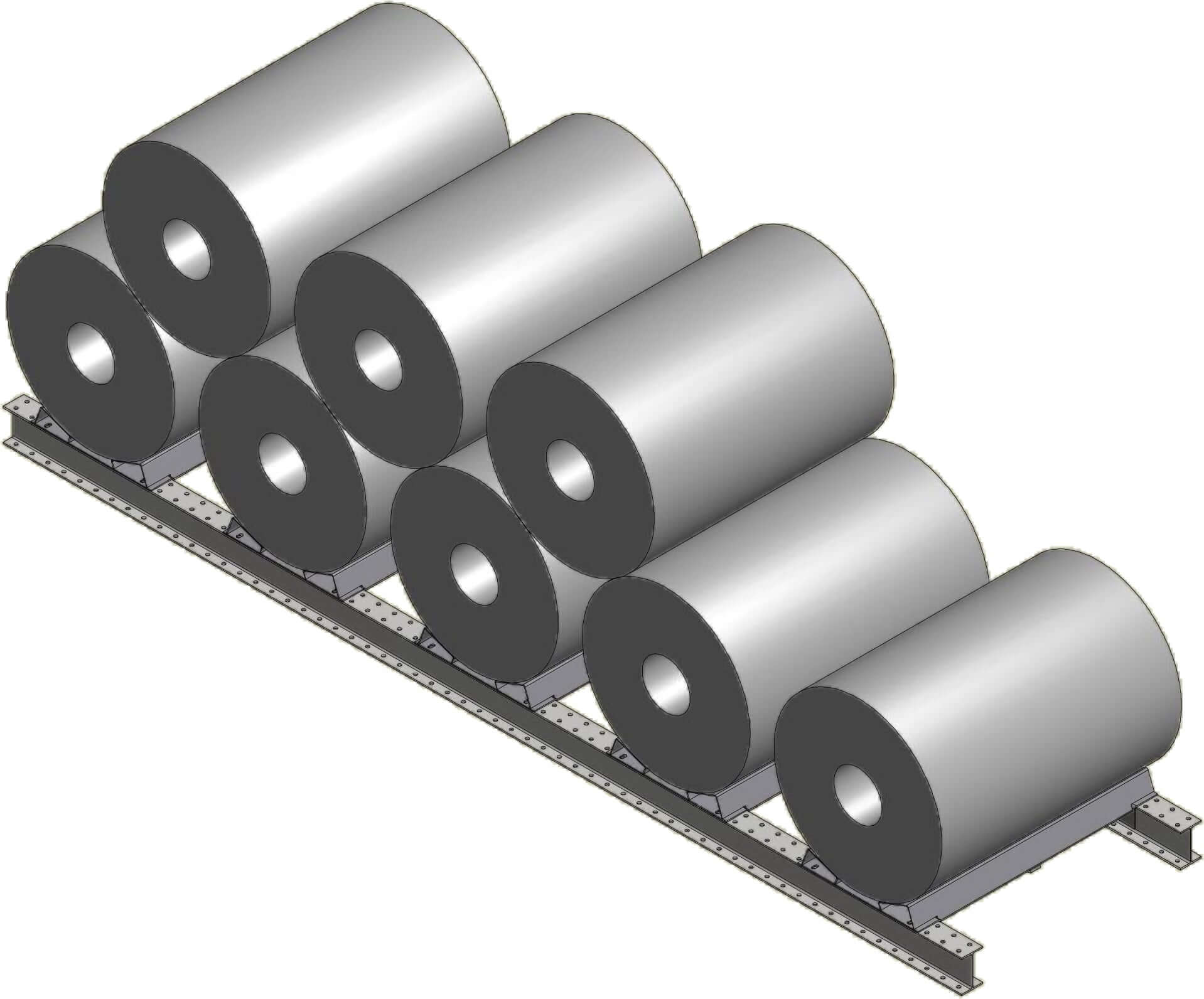 Steel Coil Stands : Dexco structural i beam coil rack systems ross technology