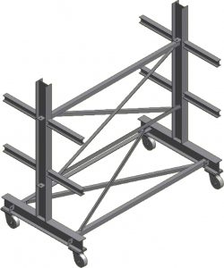 Ross Technology Dexco Heavy Duty Structural I-Beam Garage Door Rack
