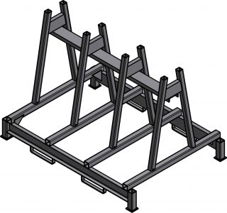 Ross Technology Dexco Heavy Duty Structural I-Beam Granite Rack
