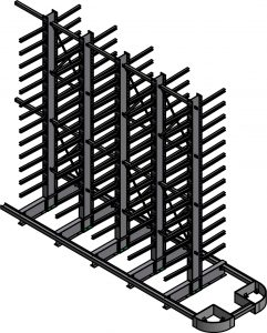 Narrow Aisle with Guardrail