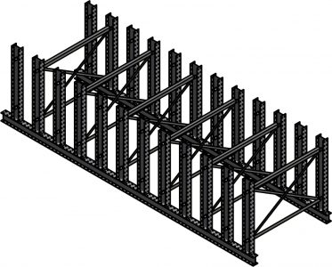 Ross Technology Dexco Heavy Duty Structural I-Beam Plate Rack
