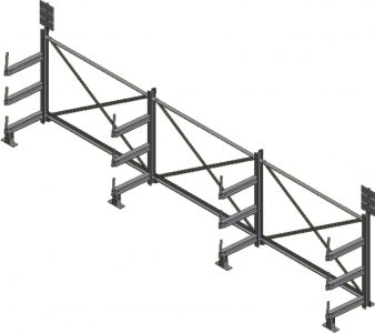 Ross Technology Dexco Heavy Duty Structural I-Beam Rebar Rack