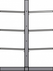 Ross Technology Dexco Heavy Duty Structural I-Beam Salvage Yard Rack Systems Double-sided