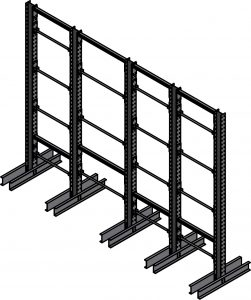 Ross Technology Dexco Heavy Duty Structural I-Beam Spindle Rack
