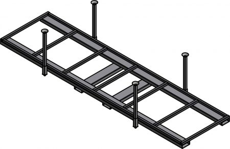 Ross Technology Dexco Heavy Duty Structural I-Beam Stack Rack