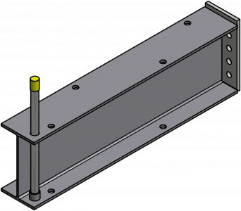 Stop Bar with Socket-Rack Base
