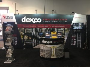 Ross Technology Dexco Structural Steel I-Beam Racking at FABTECH in Las Vegas, NV