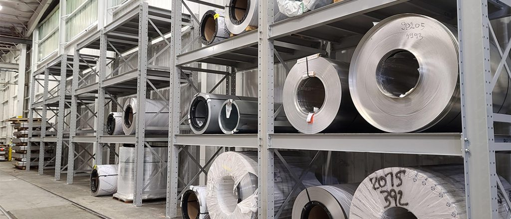 Ross Technology Dexco Widespan Industrial Storage Racking for Phoenix Metals